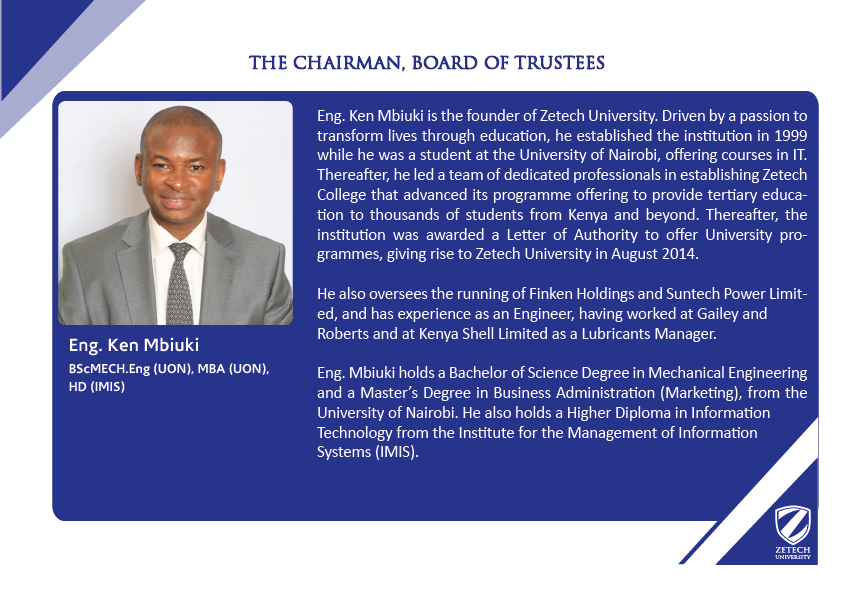 Chairman-Board of Trustees